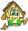 Cartoon House Character Running Clipart Picture clipart