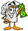 Chef Holding Money clipart