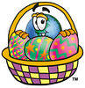 Cartoon Earth With Easter Eggs clipart