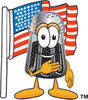 Cartoon Pepper Shaker With American Flag clipart