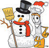 Cartoon Wrench Snowman clipart