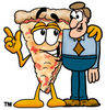 Cartoon PizzaWith A Customer clipart
