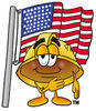 Patriotic Cartoon Hard Hat clipart