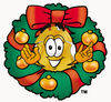 Badge Character in a Wreath clipart