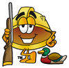 Cartoon Hard Hat Hunting clipart