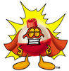 Cartoon Bobber Superhero clipart