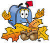 Cartoon Mailbox Fall clipart