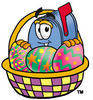 Cartoon Mailbox Easter clipart