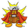 Cartton Pill Bottle Superhero clipart