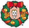 Band Aid Character in a Wreath clipart