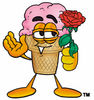 Clipart Cartoon Ice Cream Cone Character clipart