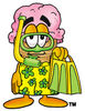 Clipart Cartoon Ice Cream Cone Character in a Snorkeling Outfit clipart