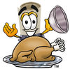 Cartoon Diploma With A Thanksgiving Turkey clipart