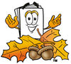 Cartoon Paper Character In Autumn clipart