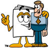 Cartoon Paper Character With A Man clipart