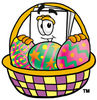 Cartoon Paper Character Easter Basket clipart