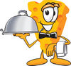 Cartoon Cheese Server clipart