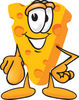Cartoon Cheese Pointing Forward clipart