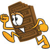Cartoon Chocolate Bar Running clipart