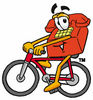 Cartoon Phone Riding Bike clipart