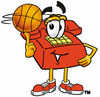 Cartoon Phone Playing Basketball clipart