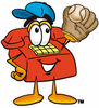 Cartoon Phone Catching Baseball clipart