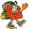 Cartoon Phone Hiking clipart