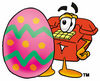 Cartoon Phone With Easter Egg clipart