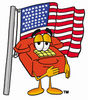 Cartoon Phone With American Flag clipart
