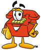 Cartoon Phone Pointing Forward clipart