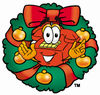 Cartoon Phone In Christmas Reef clipart