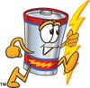 Clip Art Cartoon Illustration of Battery running clipart