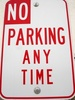 No Parking Any Time Sign clipart