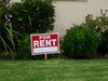 House For Rent Sign Stock Photo clipart