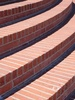 Rounded Red Brick Steps clipart