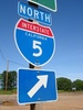 Interstate 5 Highway Sign - North clipart