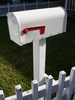 White Mailbox and White Picket Fence clipart