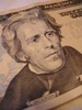 Andrew Jackson On a Twenty Dollar Bill clipart