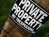 Private Property No Trespassing Sign clipart