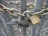 Chained and Locked Chain Link Fence clipart