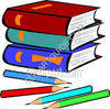 Books and Pencils clipart