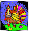 Colorful Turkey clipart