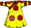 Yellow and Red Dress clipart