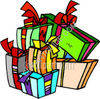 Wrapped Presents clipart