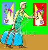 Circus Entertainer Carrying Bag clipart