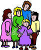 Family Standing Together clipart