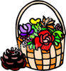 Basket of Flowers clipart