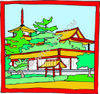 Religious Buddhist Building clipart