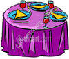 Dining-Room Table Setup For Dining clipart