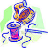 Needle, Thread and Measuring Tape clipart